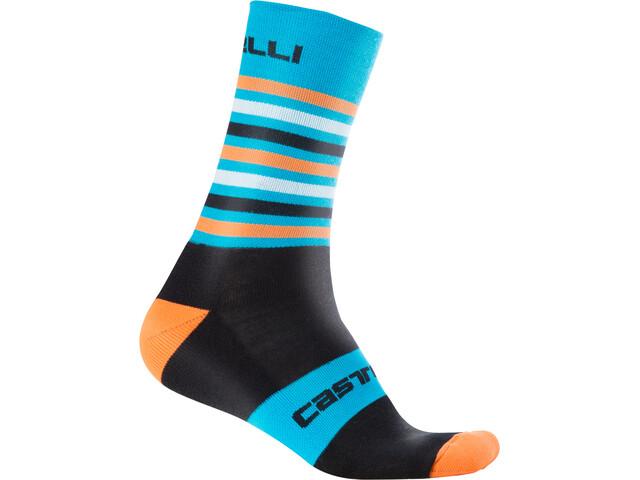 Castelli Gregge 15 Socks black/orange fluo